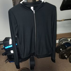 Juniors size small black zip up soft jacket